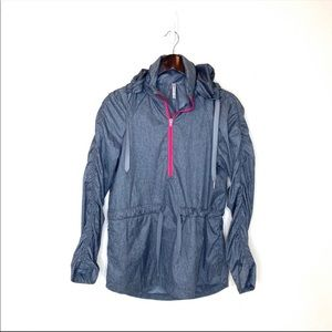 Fabletics Gray Danielle Pullover Jacket